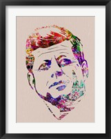 Framed Kennedy Watercolor