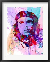 Framed Che Guevara Watercolor 2