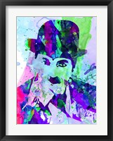 Framed Chaplin Watercolor