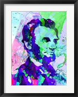 Framed Lincoln Watercolor