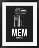 Framed MEM Memphis Airport Black