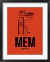 Framed MEM Memphis Airport Orange