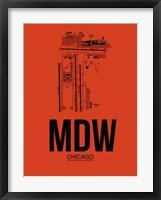 Framed MDW Chicago Airport Orange