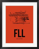 Framed FLL Fort Lauderdale Airport Orange