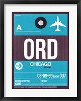 Framed ORD Chicago Luggage Tag 1