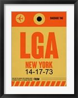 Framed LGA New York Luggage Tag 1