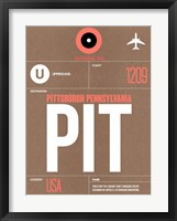 Framed PIT Pittsburgh Luggage Tag 2