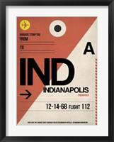 Framed IND Indianapolis Luggage Tag 1