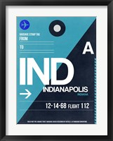 Framed IND Indianapolis Luggage Tag 2