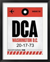 Framed DCA Washington Luggage Tag 1
