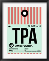 Framed TPA Tampa Luggage Tag 1