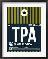 Framed TPA Tampa Luggage Tag 2
