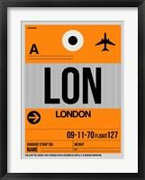 Framed LON London Luggage Tag 1