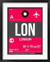 Framed LON London Luggage Tag 2
