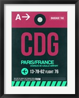 Framed CDG Paris Luggage Tag 1