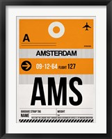 Framed AMS Amsterdam Luggage Tag 2