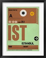 Framed IST Istanbul Luggage Tag 2