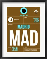 Framed MAD Madrid Luggage Tag 1