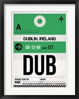 Framed DUB Dublin Luggage Tag 1
