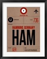 Framed HAM Hamburg Luggage Tag 1