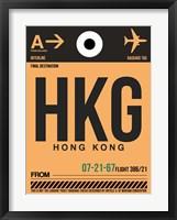 Framed HKG Hog Kong Luggage Tag 2