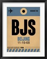 Framed BJS Beijing Luggage Tag 2