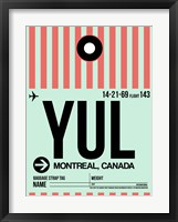 Framed YUL Montreal Luggage Tag 2