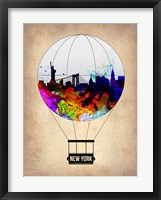 Framed New York Air Balloon