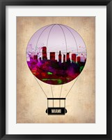 Framed Miami Air Balloon 2