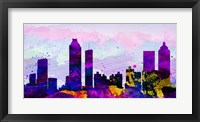 Framed Atlanta City Skyline