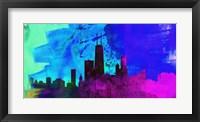Framed Chicago City Skyline