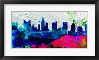 Framed Columbus City Skyline
