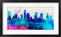 Framed Houston City Skyline