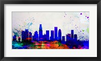 Framed Los Angeles City Skyline