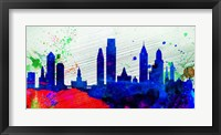 Framed Philadelphia City Skyline
