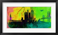 Framed San Francisco City Skyline