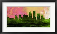 Framed Louisville City Skyline