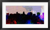 Framed Madison City Skyline