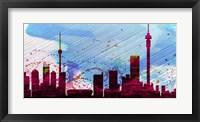 Framed Johannesburg City Skyline