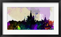 Framed Moscow City Skyline