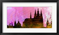 Framed Prague City Skyline