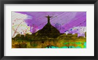 Framed Rio City Skyline
