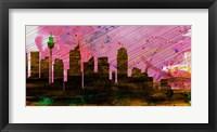 Framed Sydney City Skyline