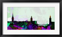 Framed Stockholm City Skyline