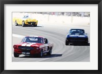 Framed Mustang and Corvette Racing