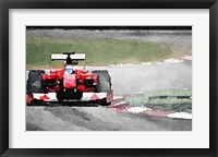 Framed Ferrari F1 on Track
