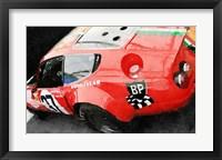 Framed Ferrari Reear Detail