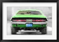 Framed Dodge Challenger Rear