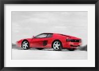 Framed Ferrari 512 TR Testarossa
