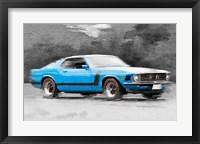 Framed 1970 Ford Mustang Boss Blue